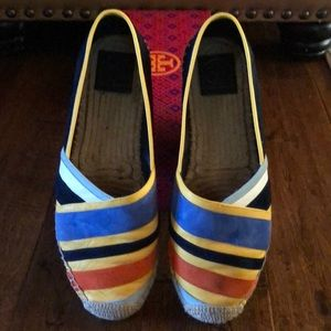 Tory Burch Maisie Espadrille- Suede/Nappa Leather